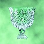 custom crystal footed bowl trophy award