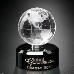 Crystal Awards, Acrylic Awards, Trophies, Plaques and more. Spinning Globe Award.